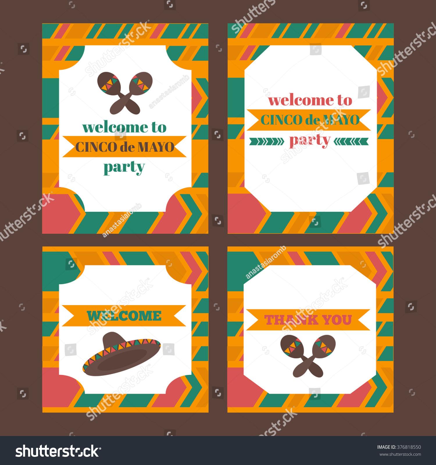 Printable tribal set mexican fiesta cinco stock vector 376818550 printable tribal set of mexican fiesta cinco de mayo party invitation vector stopboris Images