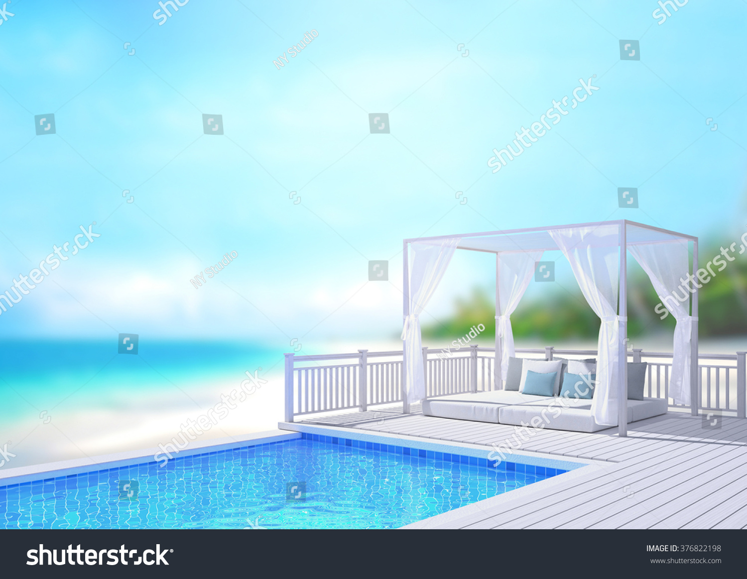 swimming pool terrace blur nature background stock illustration 376822198 shutterstock. Black Bedroom Furniture Sets. Home Design Ideas