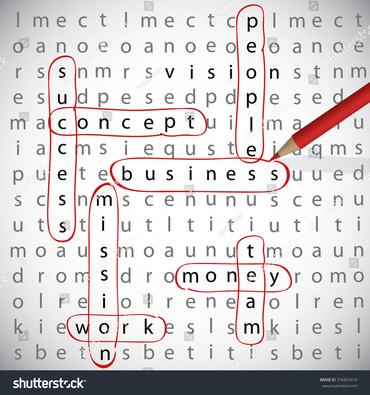 Business Crossword Business Term Stock Vector Royalty Free