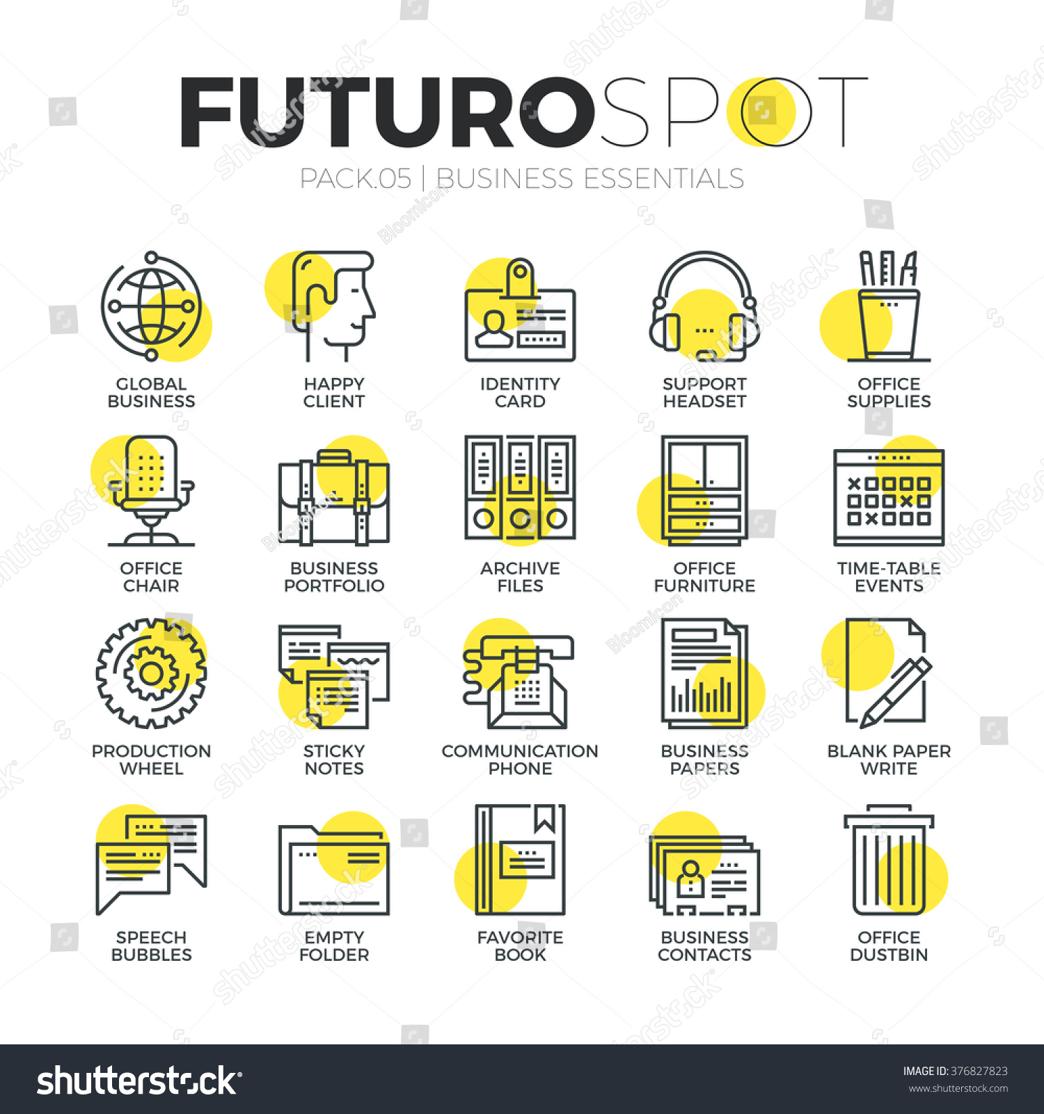 Royalty free Stroke line icons set of classic… Stock