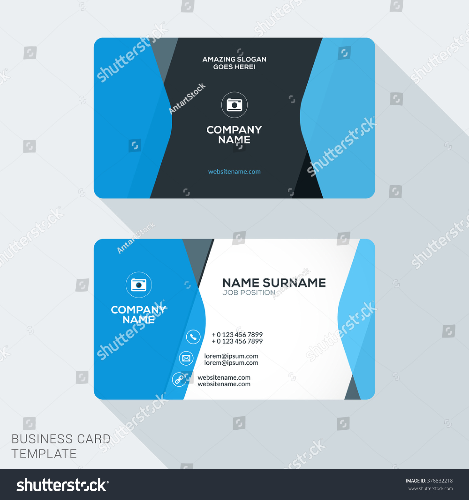 Creative Clean Corporate Business Card Template Stock Vector ...