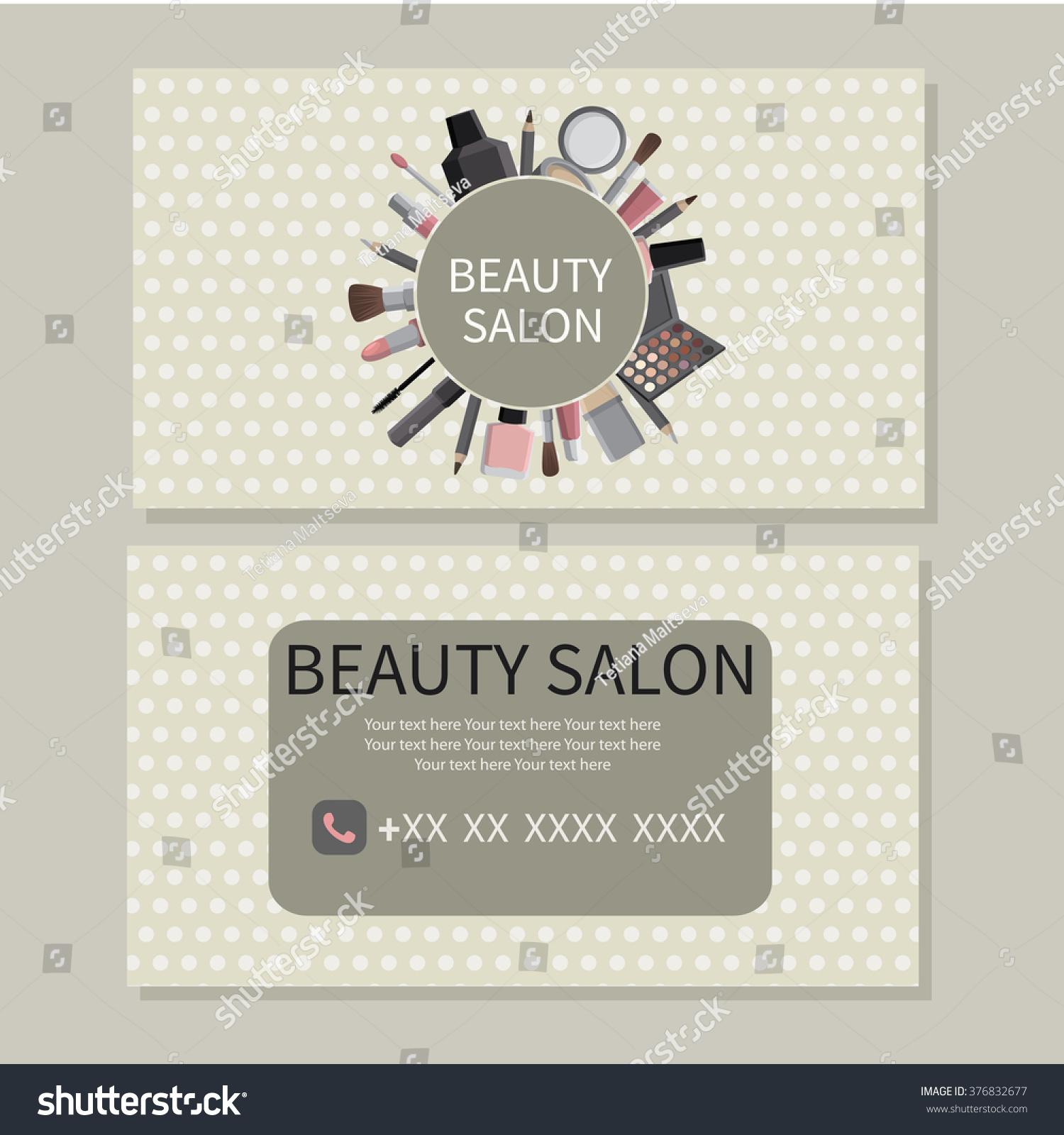 Beauty salon beauty makeup care cute stock vector for A trial beauty treatment salon