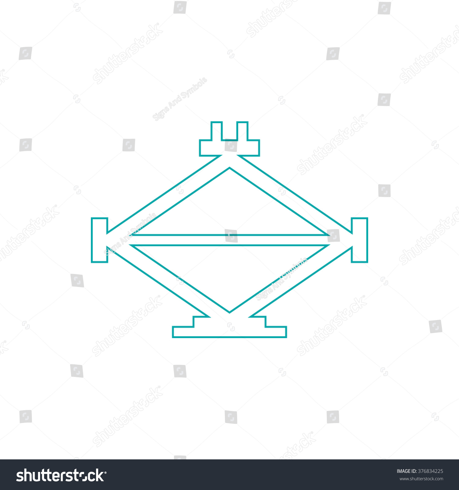 Design of car jack - Car Jack Icon Concept Flat Style Design Illustration Icon