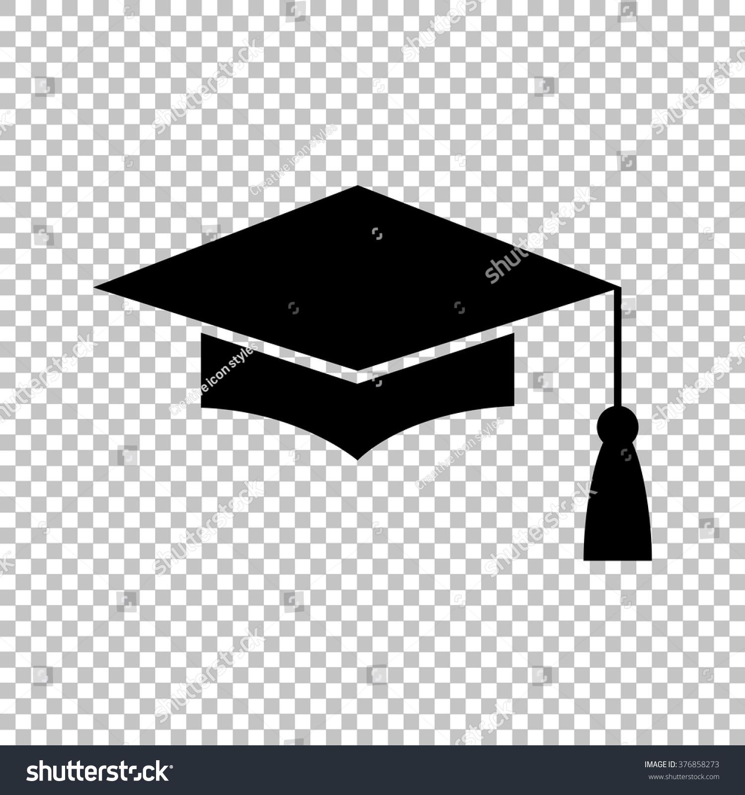 mortar board graduation cap education symbol stock vector