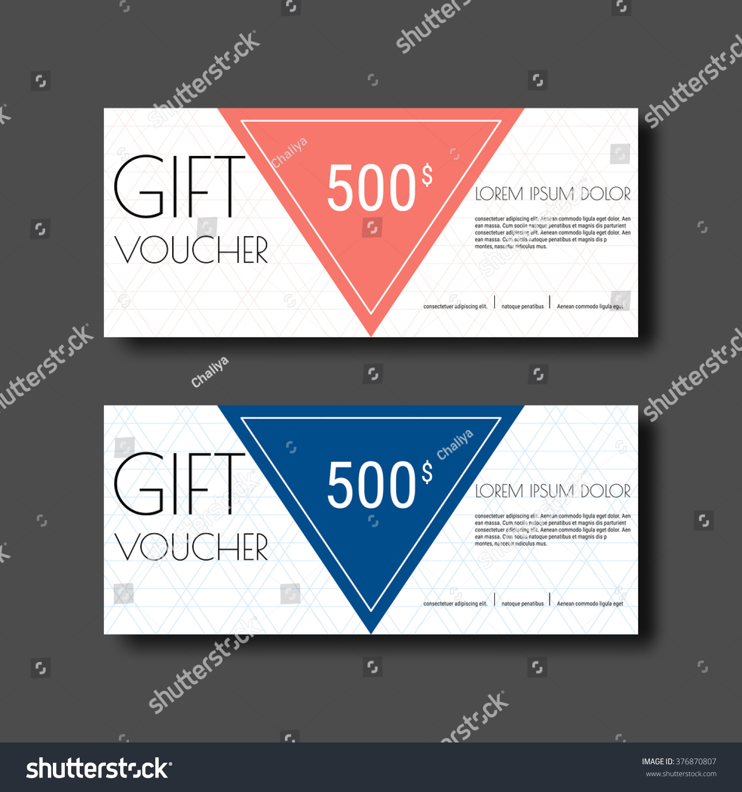 gift voucher certificate coupon template colorful stock vector