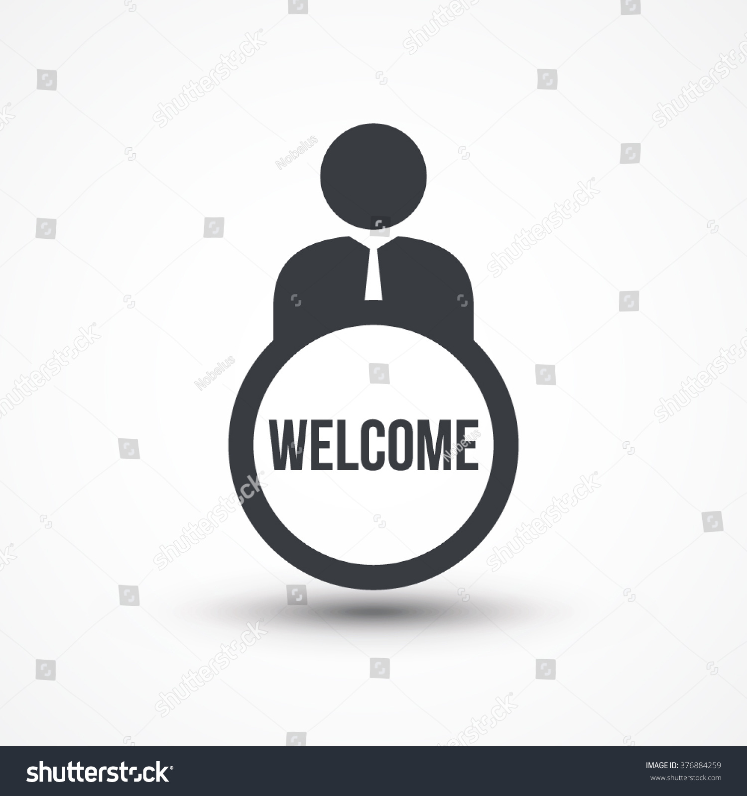 Business person text welcome flat icon stock vector 376884259 business person with text welcome flat icon buycottarizona Gallery