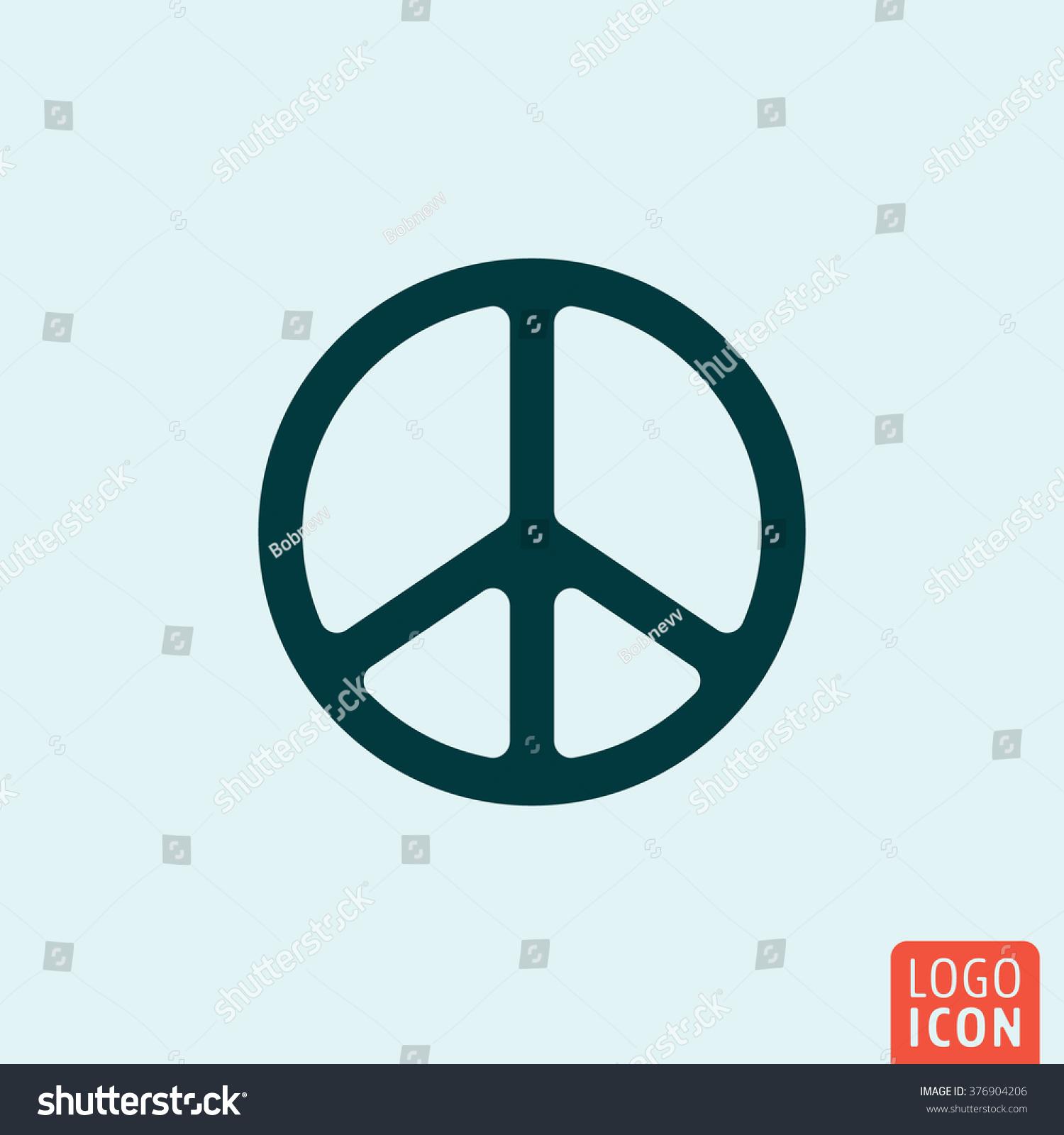 Peace icon peace symbol minimal design stock vector 376904206 peace symbol minimal design vector illustration biocorpaavc Images