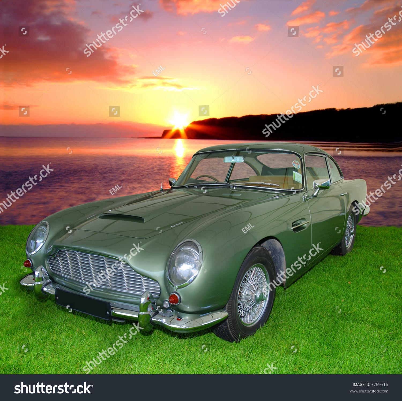 Db5 Vintage Aston Martin 1900s Isolated Stock Photo Edit Now 3769516