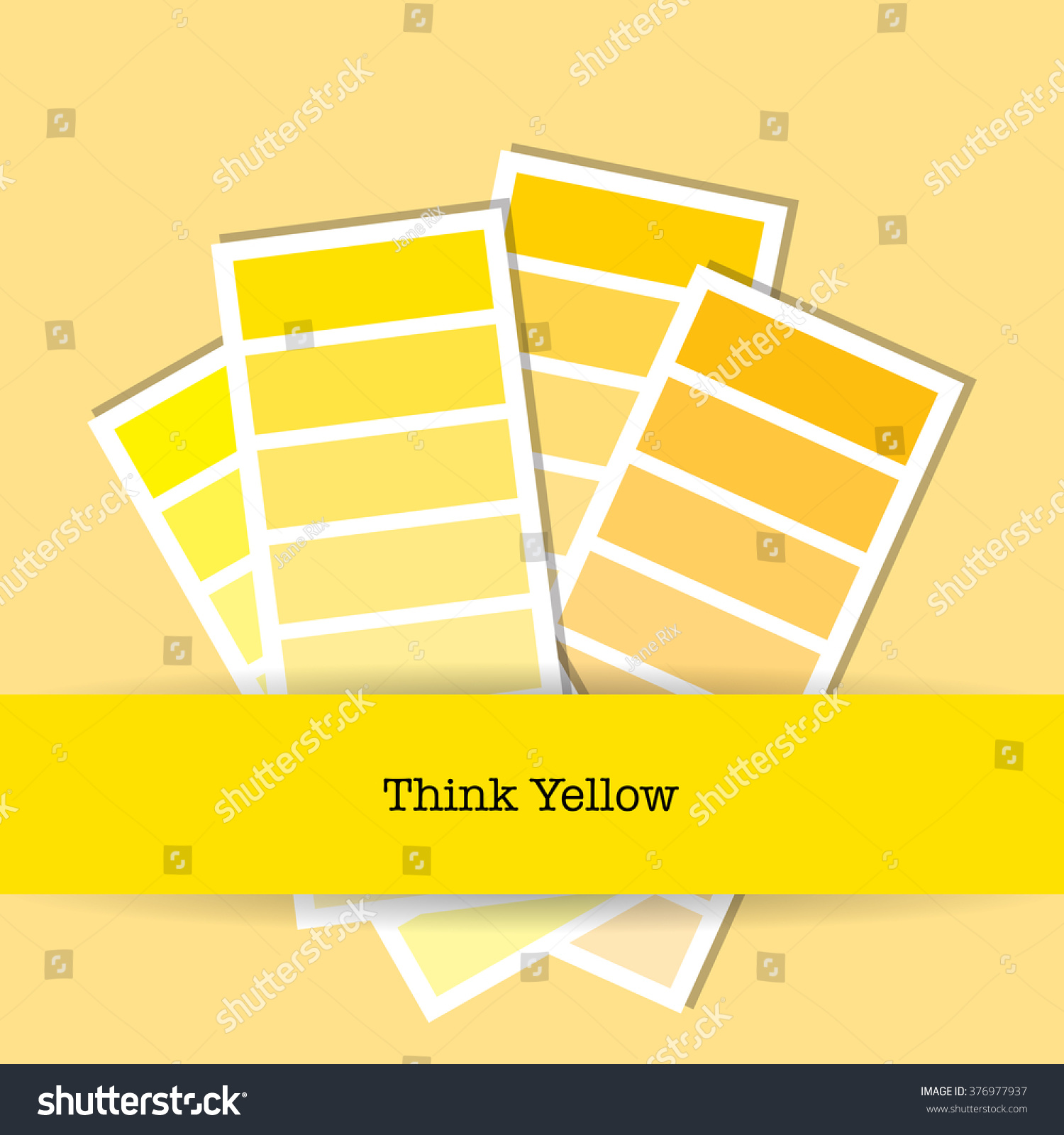Flat design colour chart shades yellow stock vector 376977937 flat design colour chart in shades of yellow eps10 vector format nvjuhfo Images