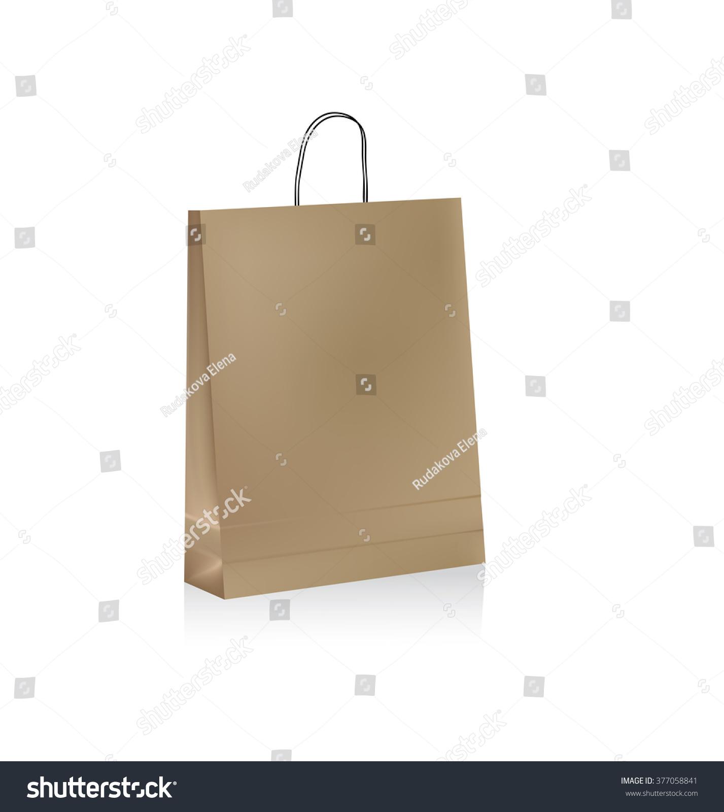 Paper bag vector - With Handles Brown Paper Bag Vector