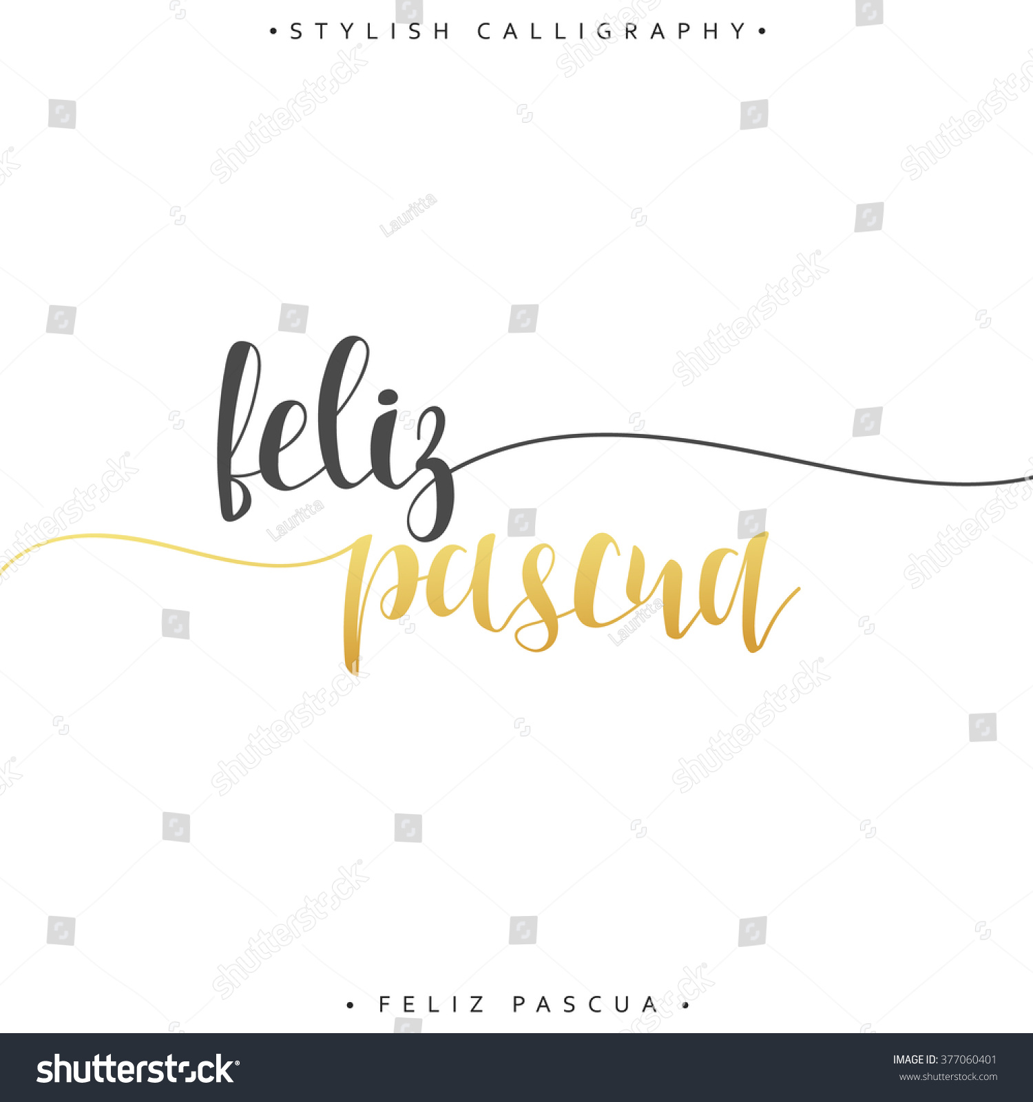 Feliz pascua greeting inscription happy easter stock illustration greeting inscription happy easter in spanish holiday card with the elite gold kristyandbryce Images