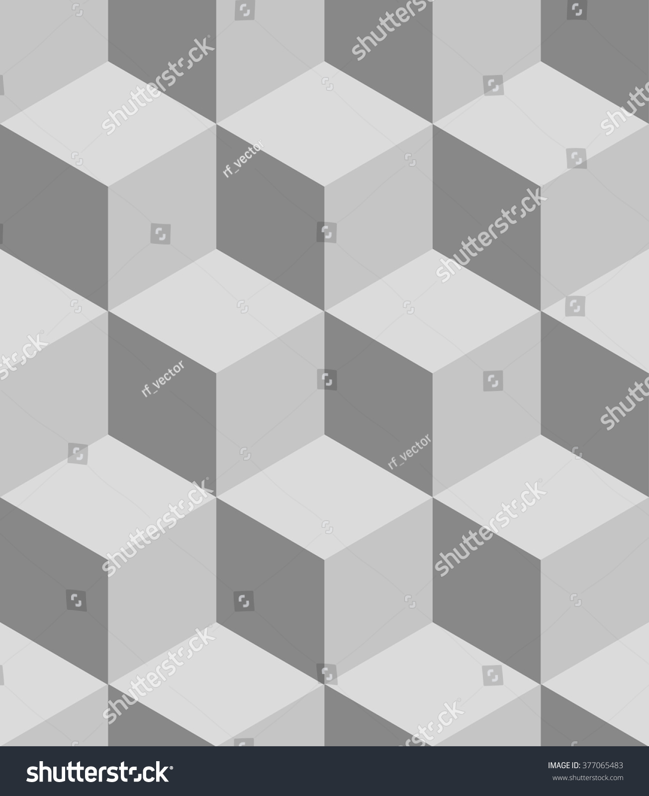 Isometric Cubes Seamlessly Repeatable Pattern 3 D Stock Vector ...
