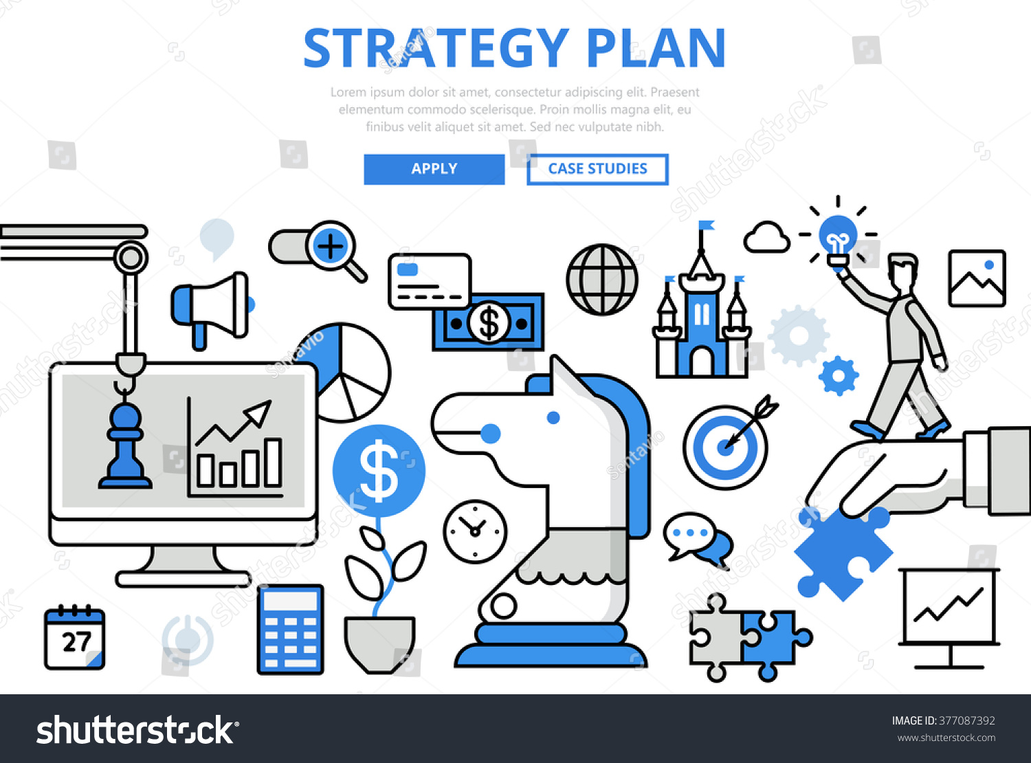 Strategy plan strategic planning business concept stock for Conceptual site model template