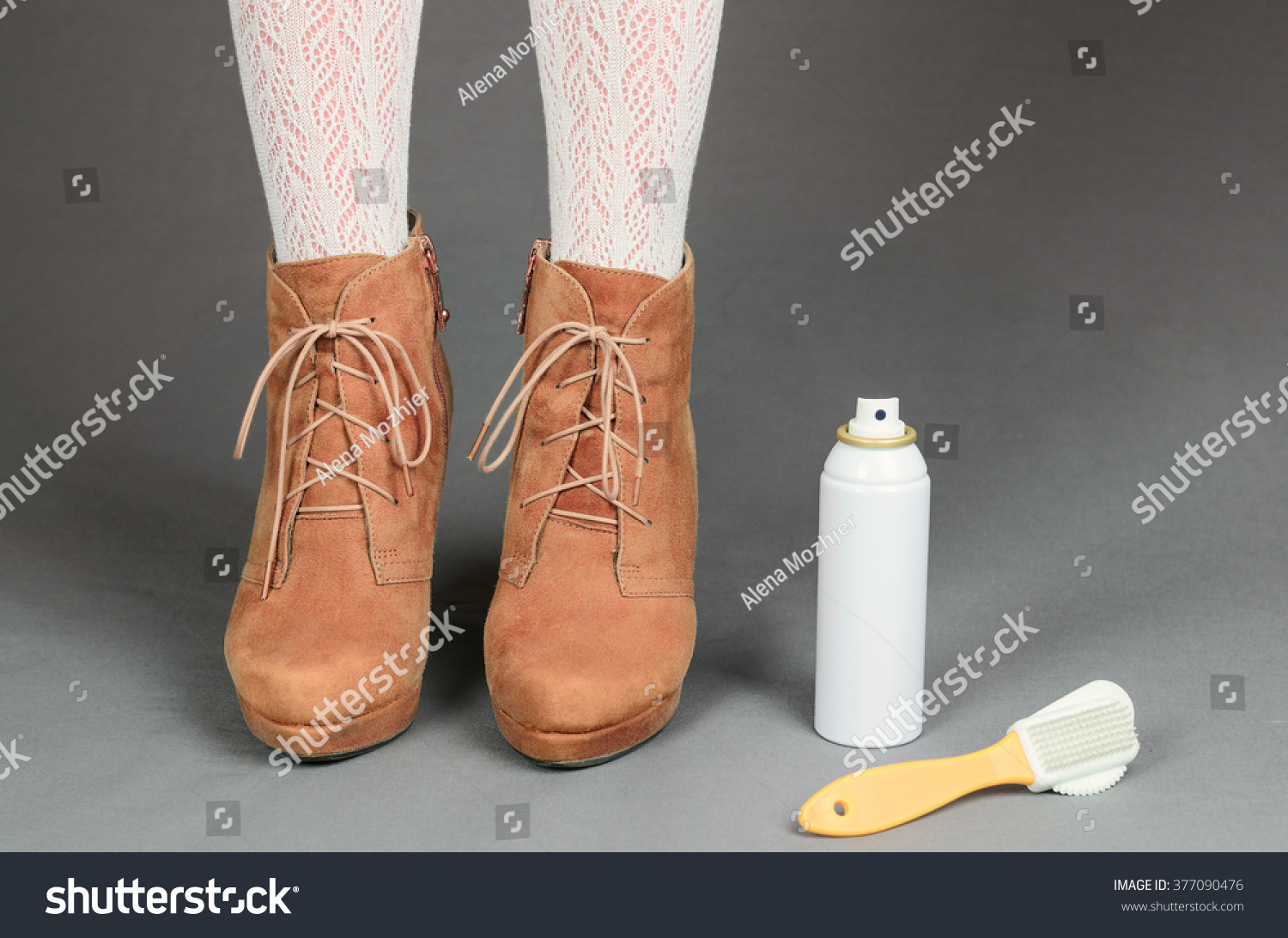 legs brown suede boots on stock photo 377090476