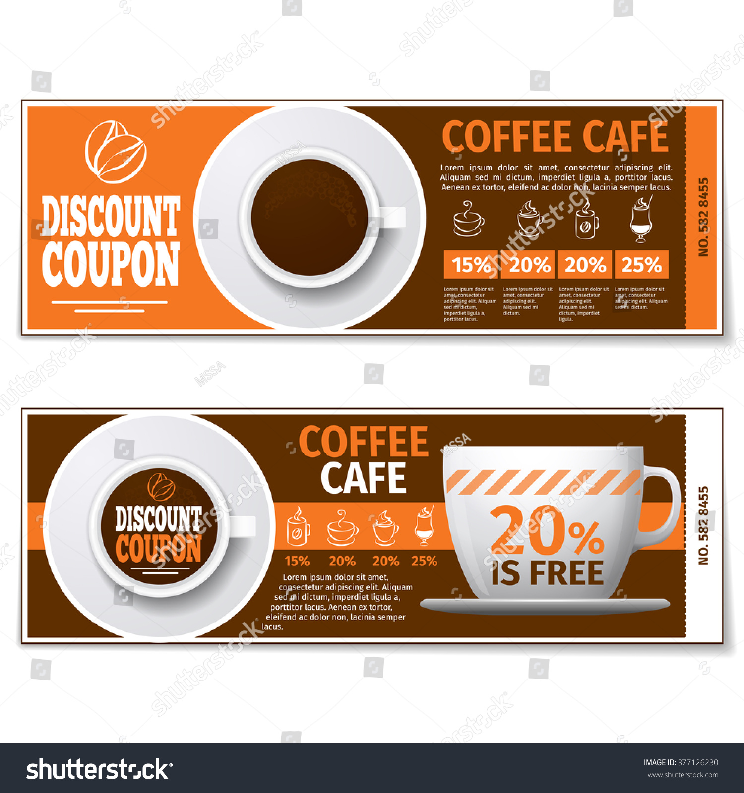 Coffee Discount Coupon Voucher Label Banner Vector 377126230 – Free Discount Vouchers