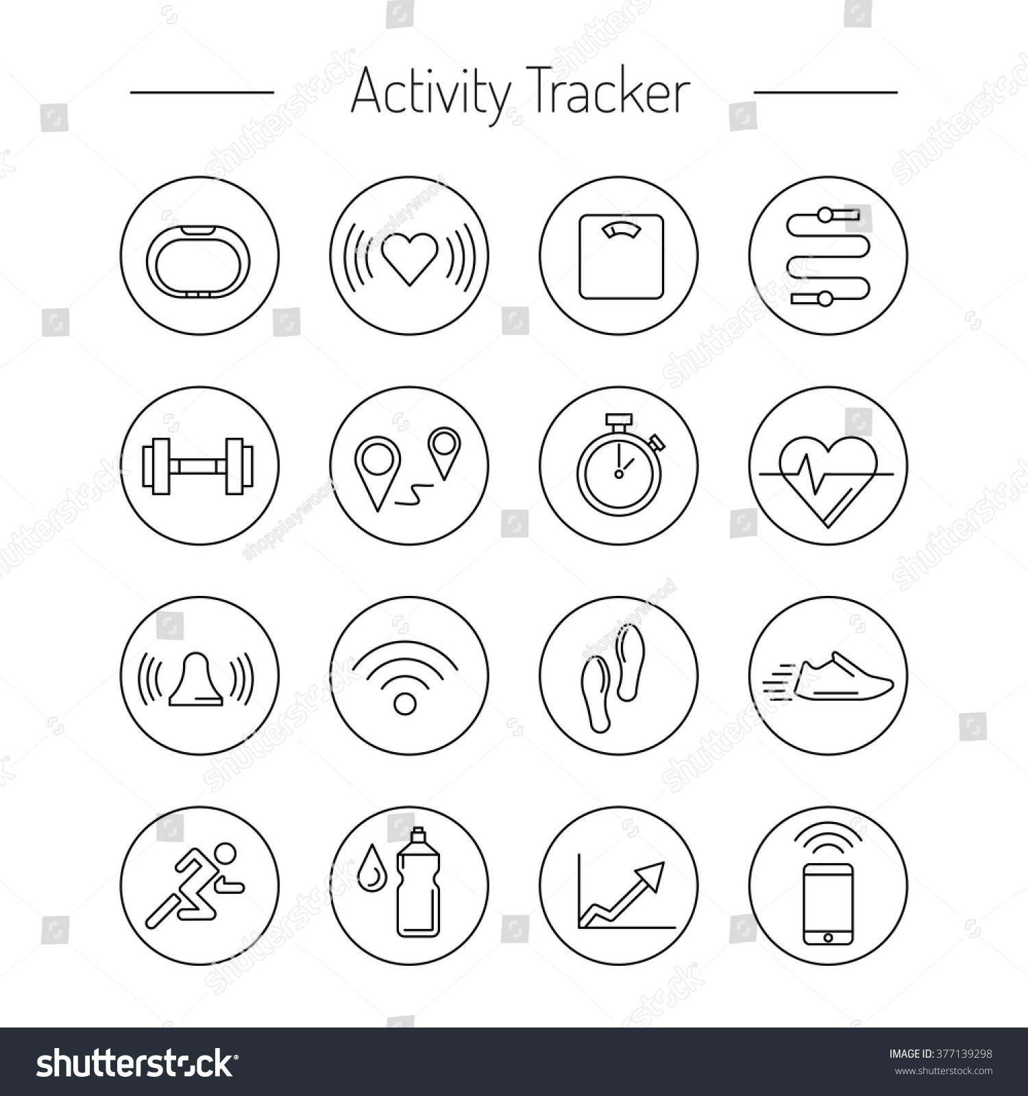 wearable electronics gadget fitness activity tracker stock vector