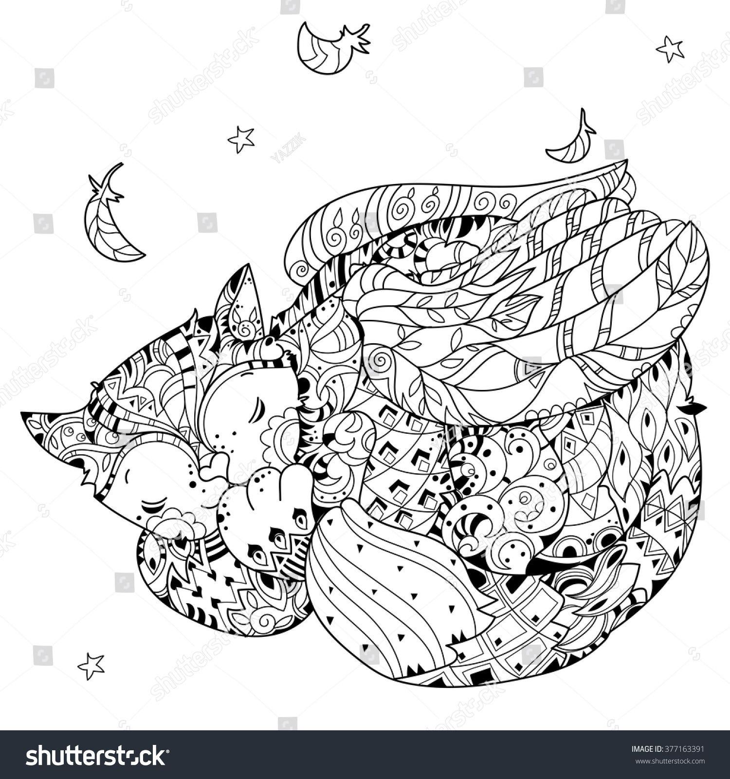 It is a photo of Slobbery Cat With Wings Coloring Pages