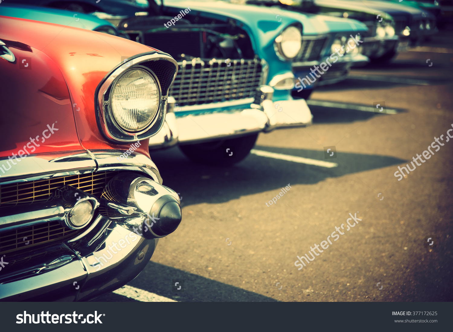 Classic cars in a row #377172625