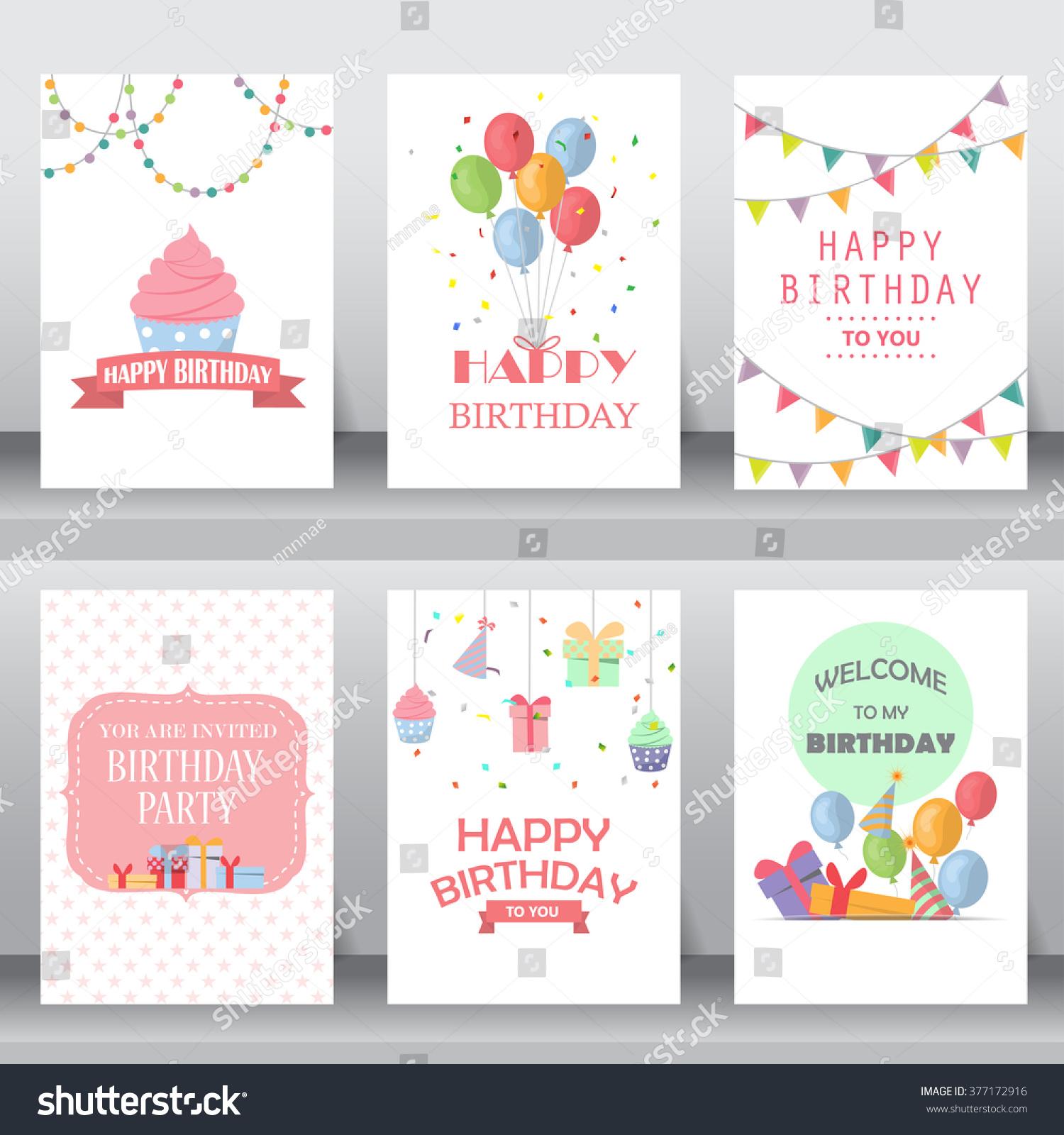 birthday holiday christmas greeting invitation card のベクター画像