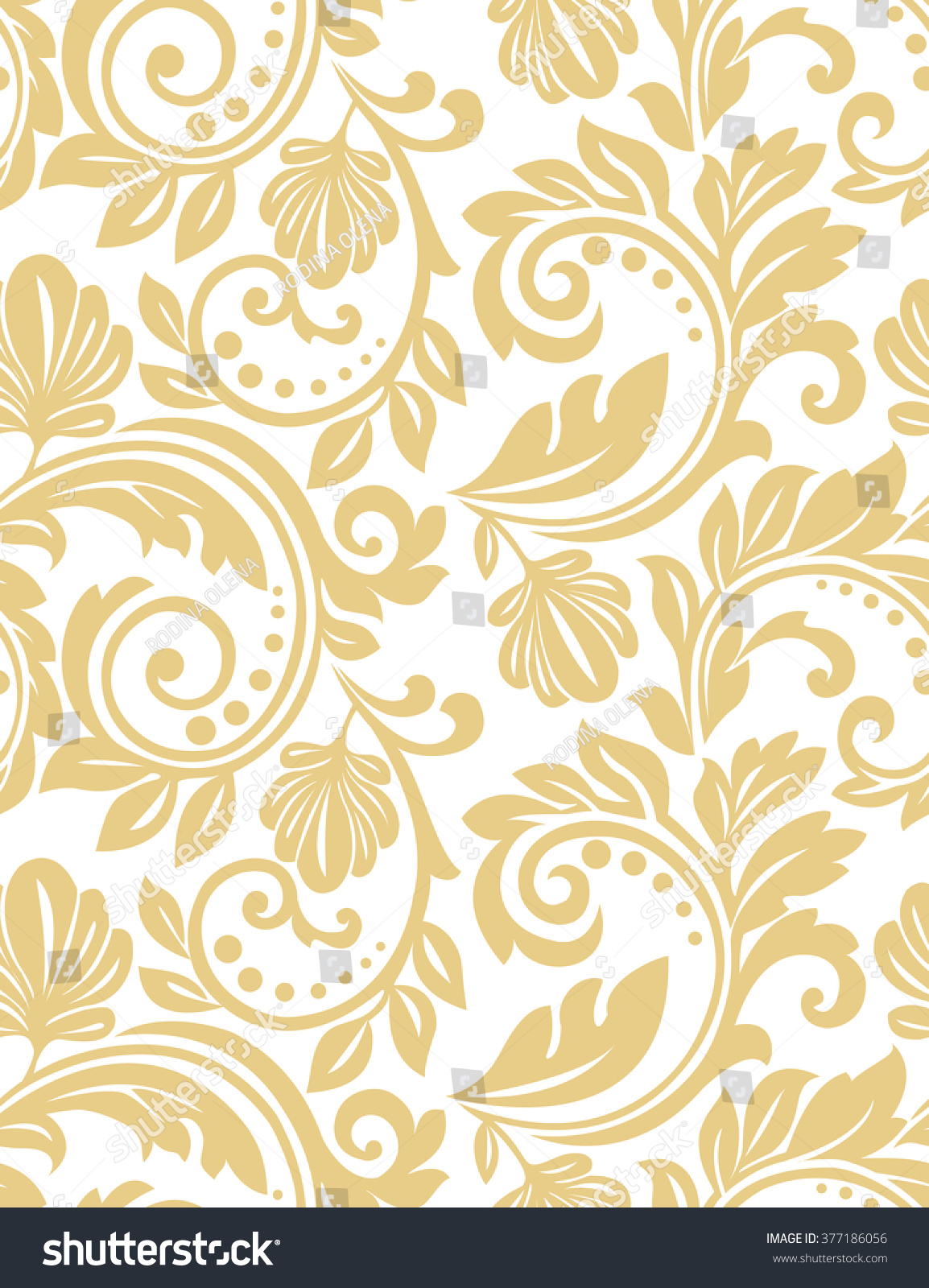 white and gold floral wallpaper - photo #24