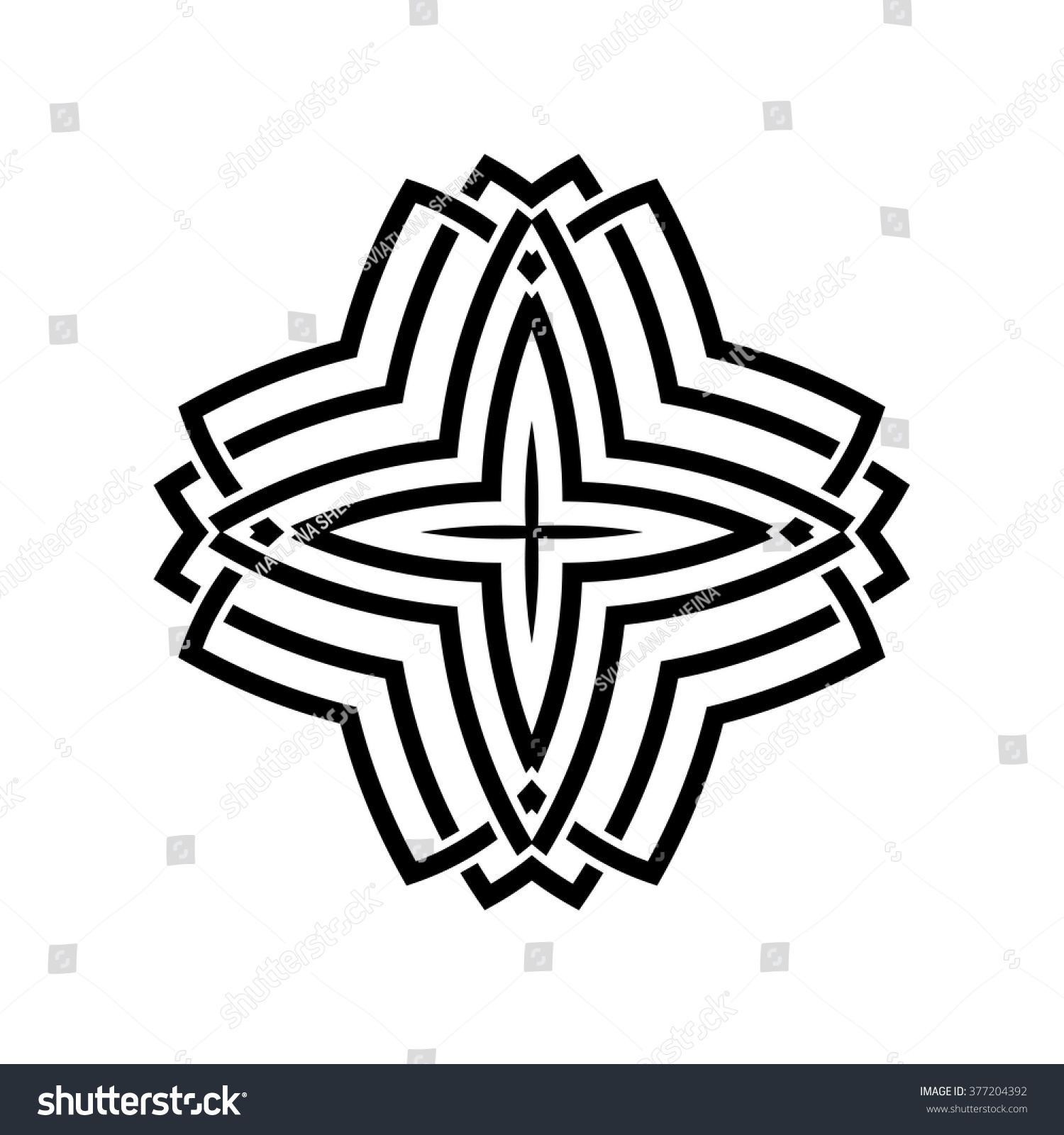 geometric oriental arabic pattern logo element stock vector royalty Potassium Element geometric oriental arabic pattern logo element for your design