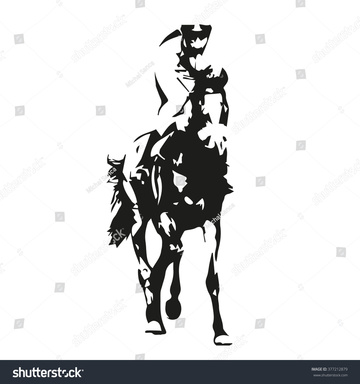 Horse Racing Vector Illustration Front View Stock Vector ...