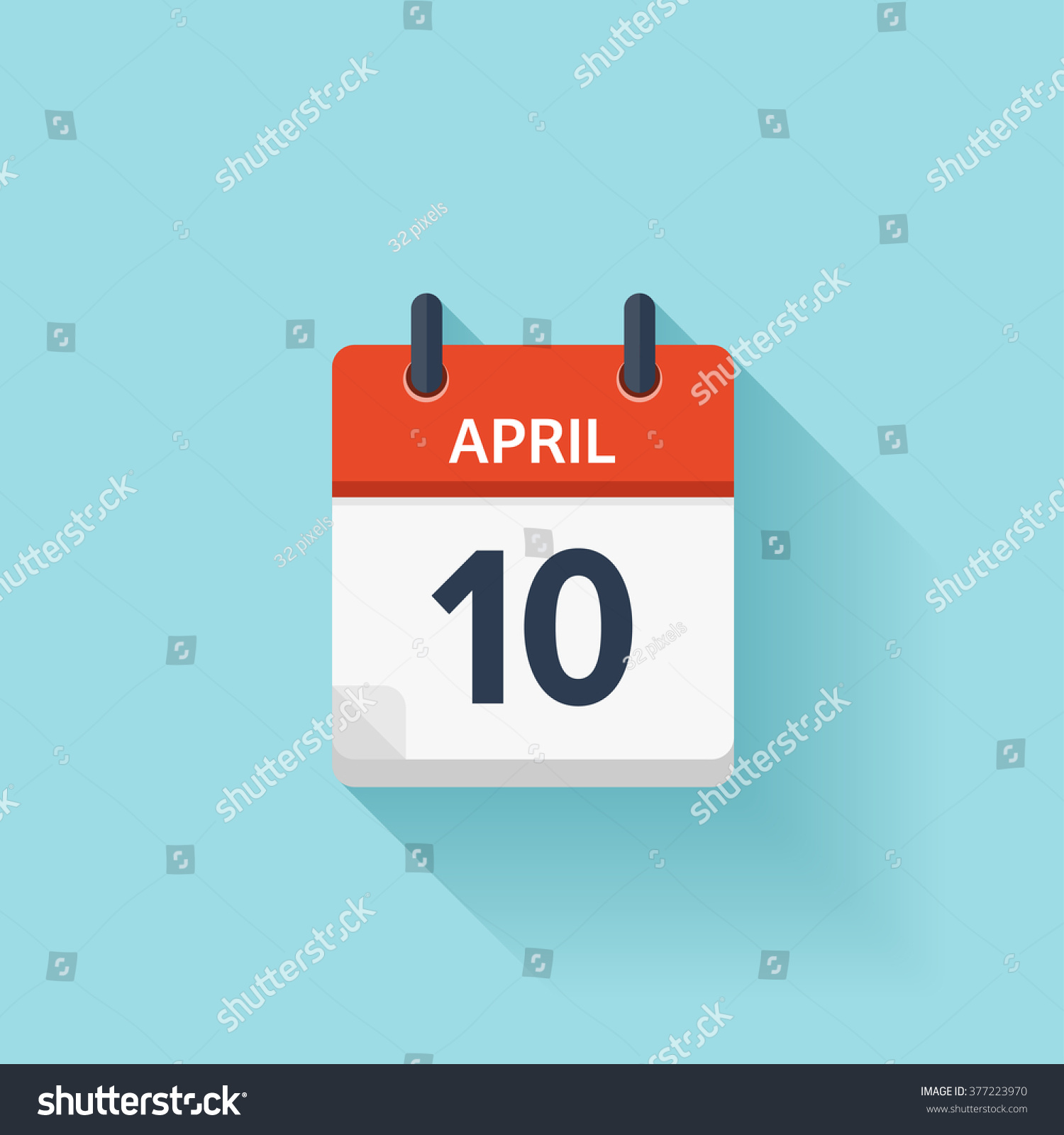 Calendar Illustration Vector : April calendar iconvector illustrationflat styledateday