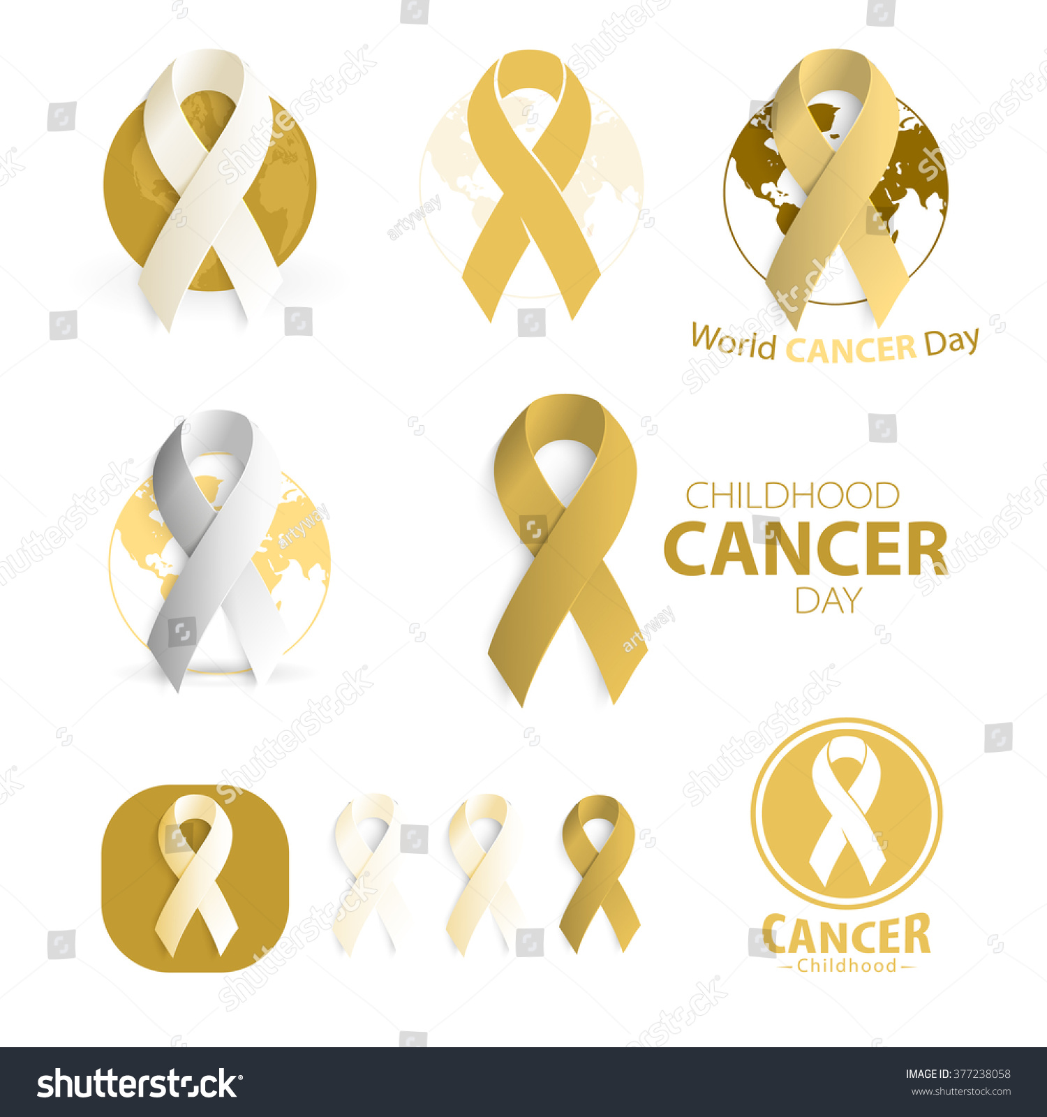 Childhood cancer day symbol collecion abstract stock vector childhood cancer day symbol collecion abstract ribbon sign medical rare childhood illness isolated biocorpaavc Image collections