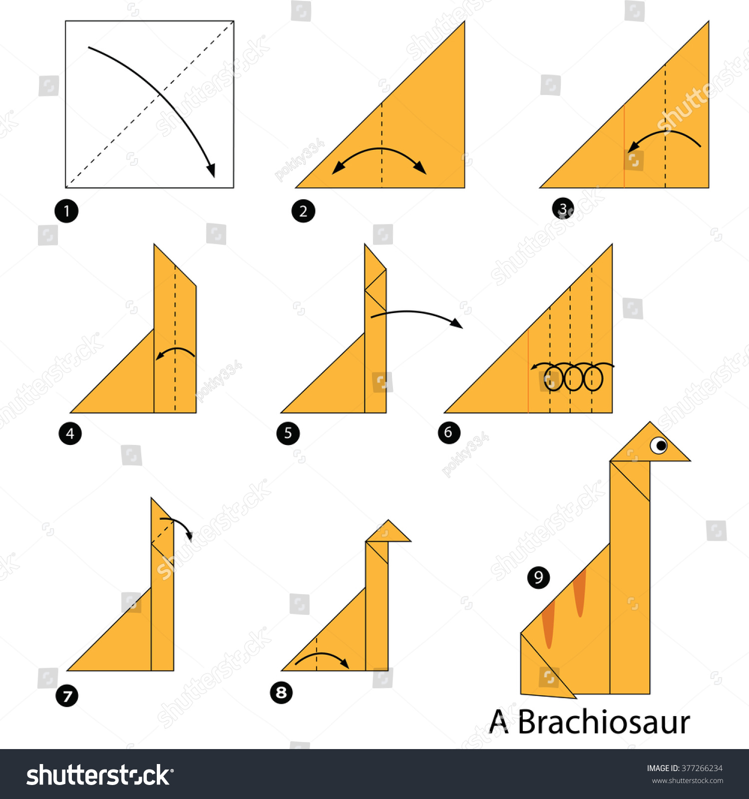 Step By Step Instructions How To Make An Origami Dinosaur ... - photo#25