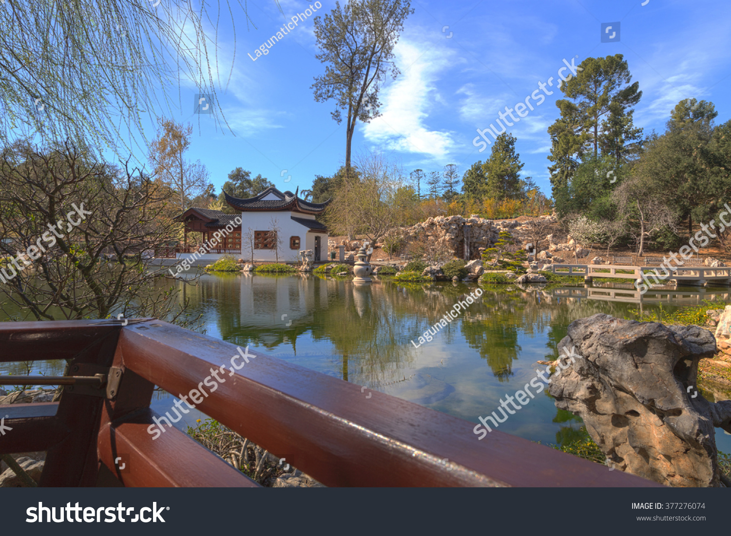 Los Angeles California February 14 2016 Chinese Botanical Garden At The Huntington Botanical