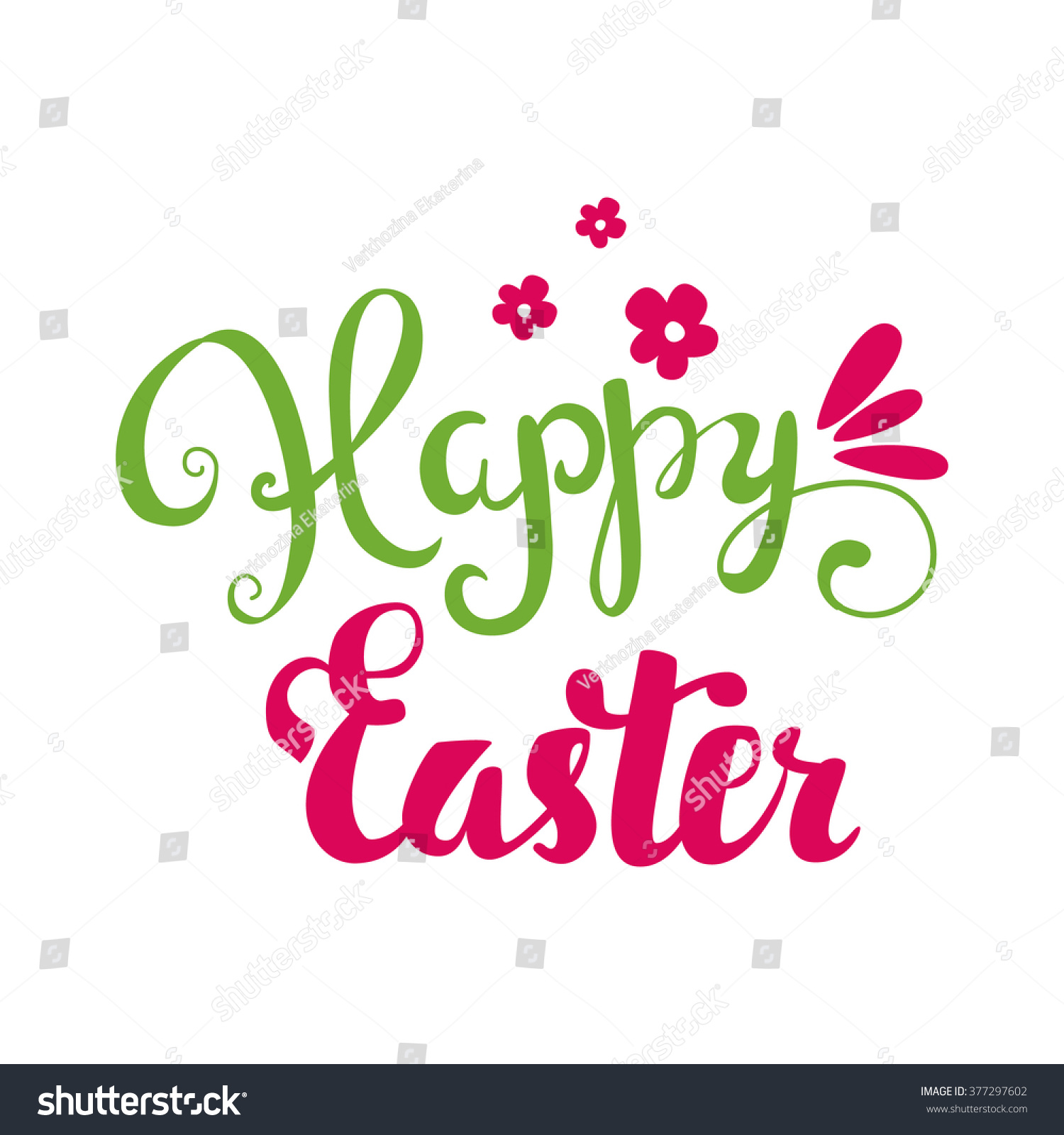 Happy easter card hand lettering calligraphy