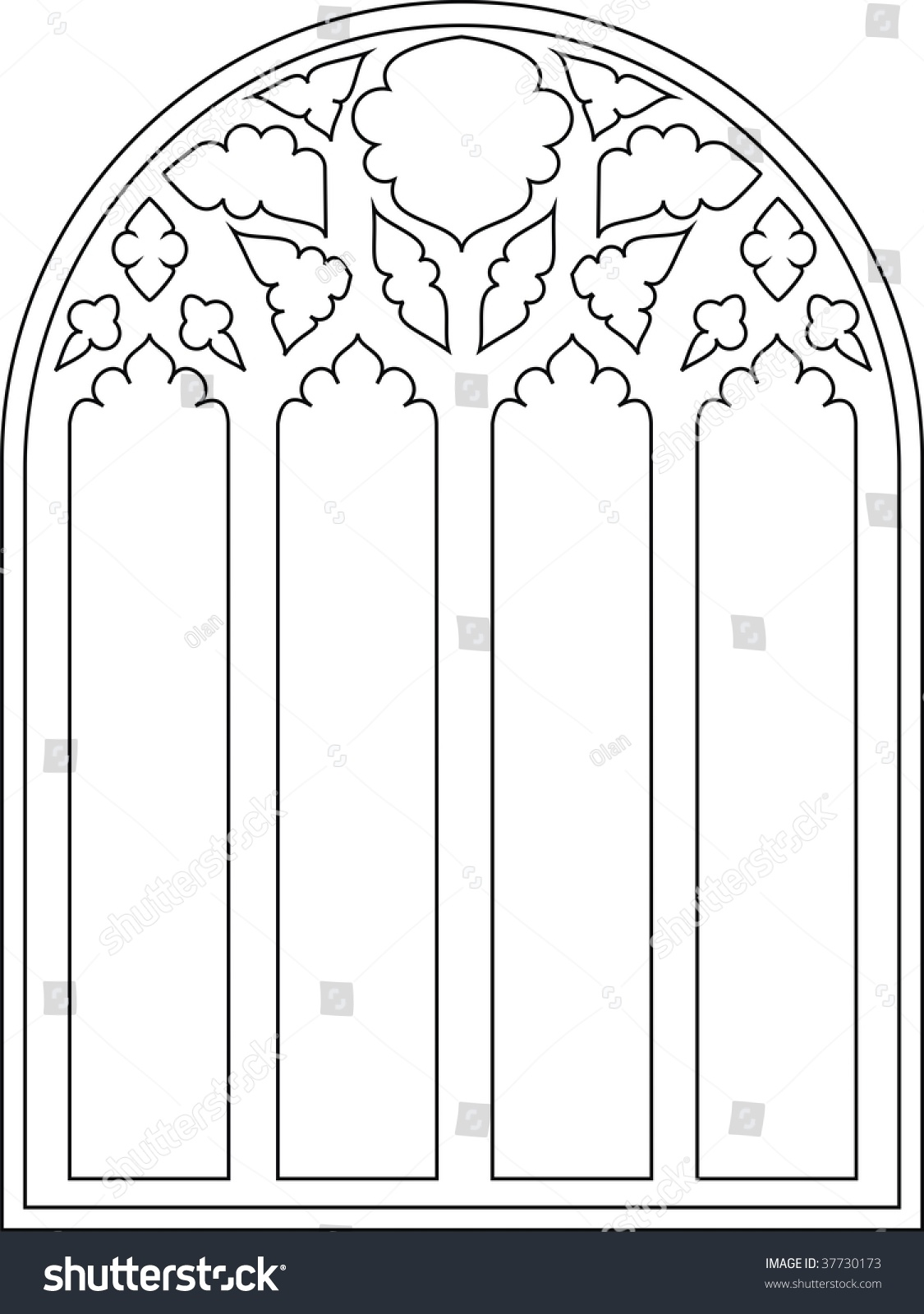 Cathedral Window Clip Art
