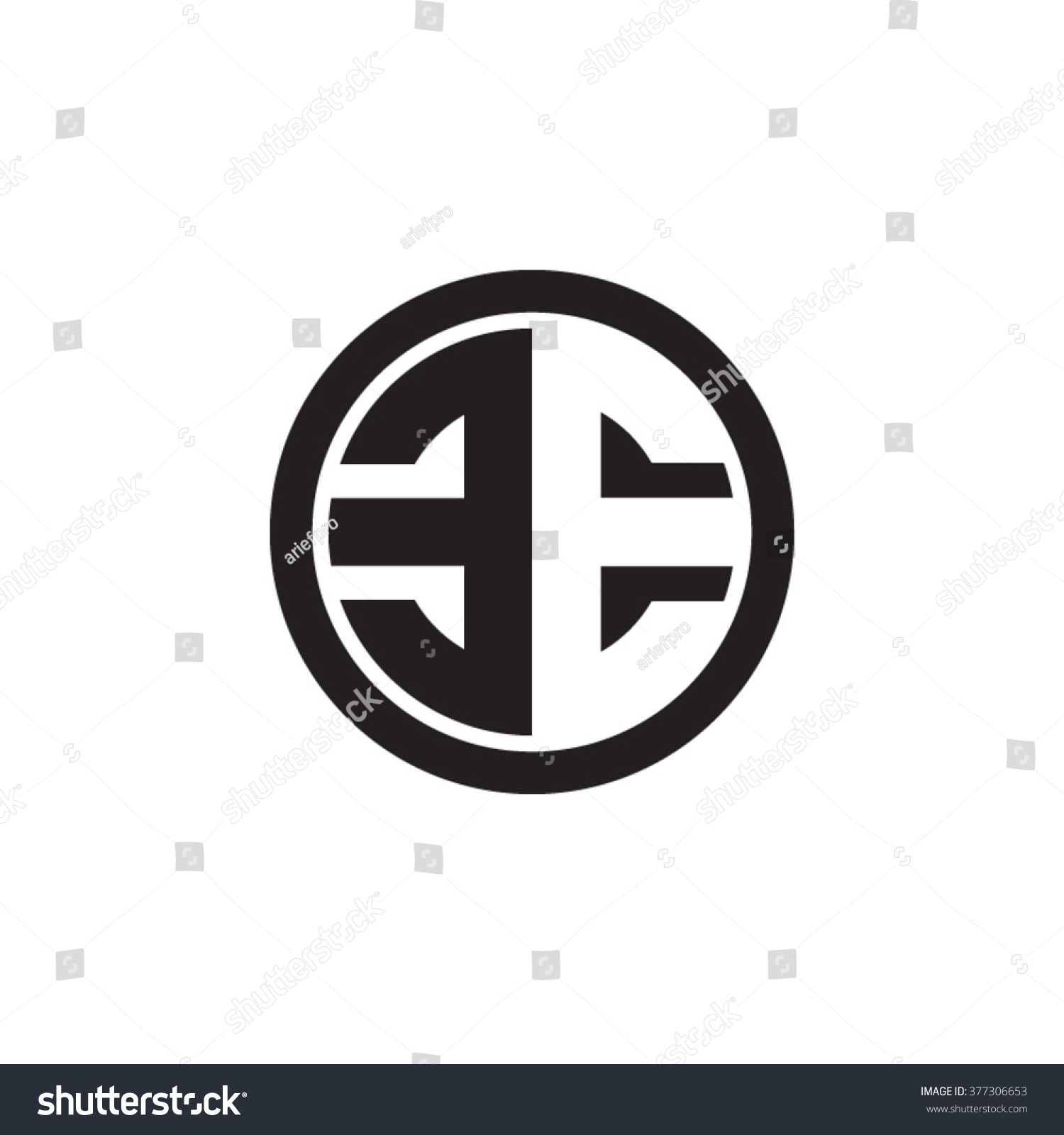 EE Initial Letters Circle Monogram Logo Stock Vector HD (Royalty ...