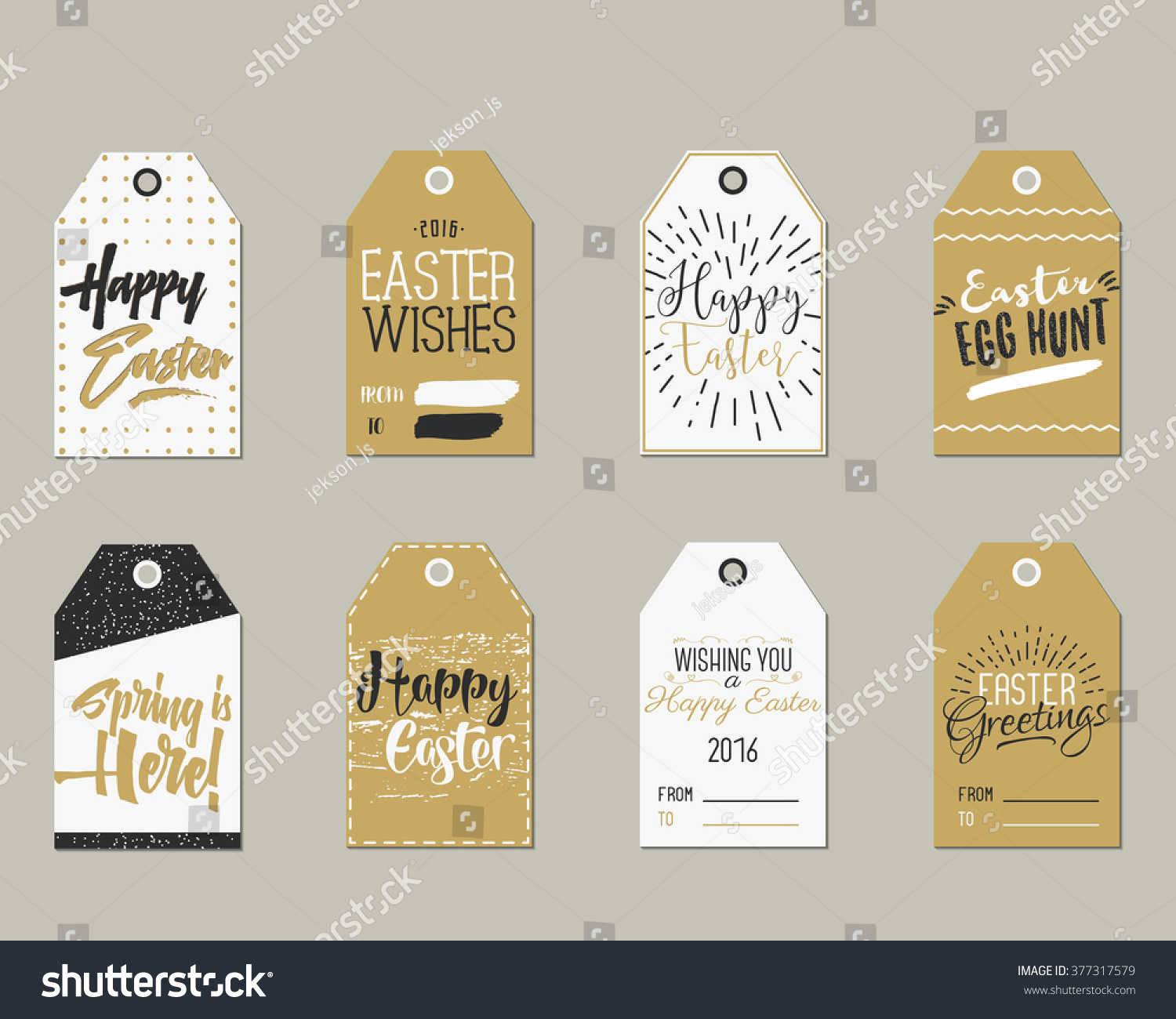 Happy easter gift tags craftbnb set of happy easter gift tags with ink lettering signs overlay negle Gallery