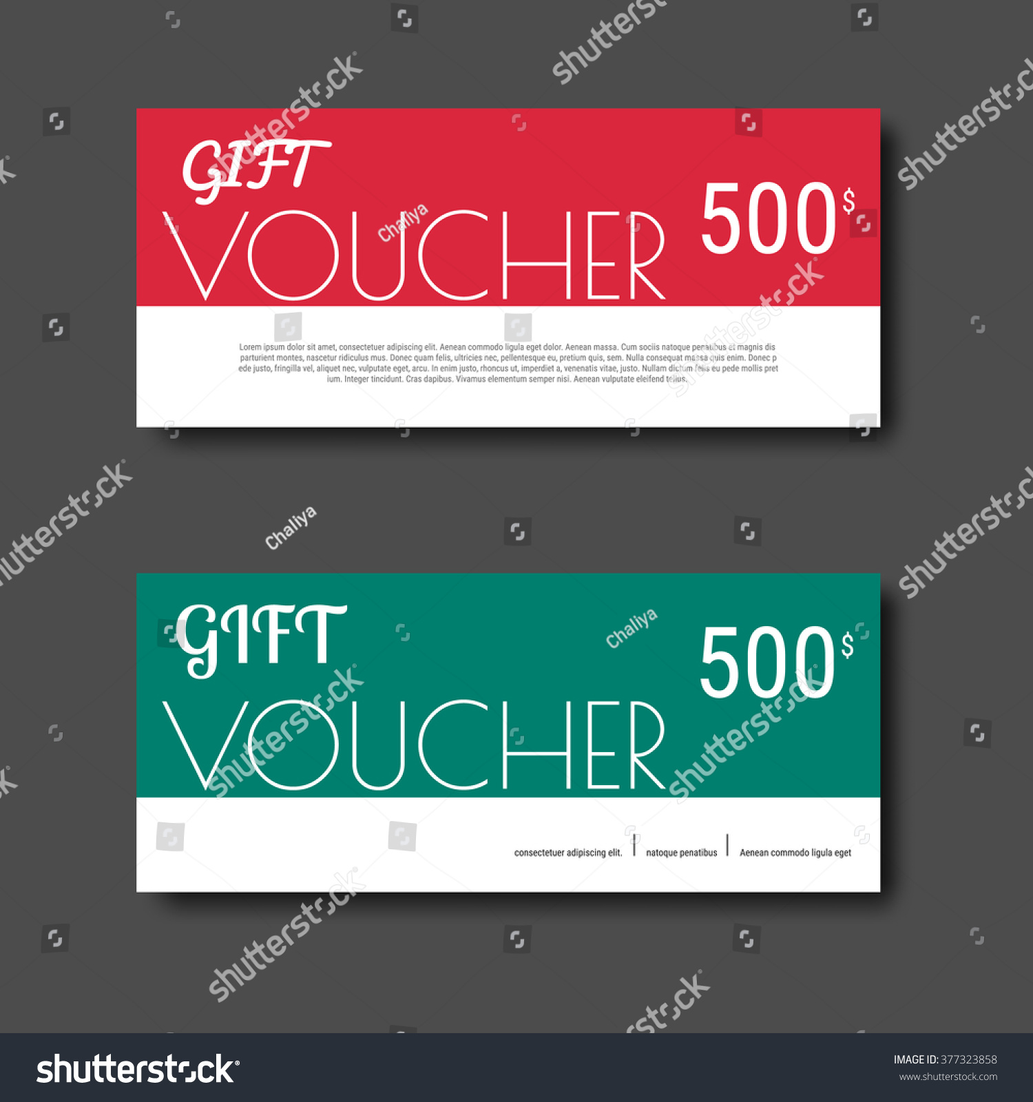 Gift voucher certificate coupon template colorful stock vector gift voucher certificate coupon template with colorful and modern style can be use for business fbccfo Gallery