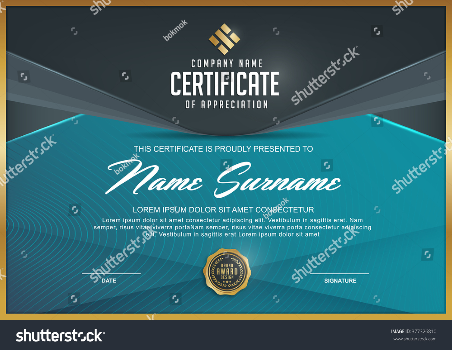 certificate template with Luxury and modern patternQualification certificate blank template with elegant Vector illustration