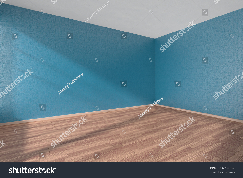 Empty Room Wooden Parquet Floor Walls Stock Illustration 377348242 ...