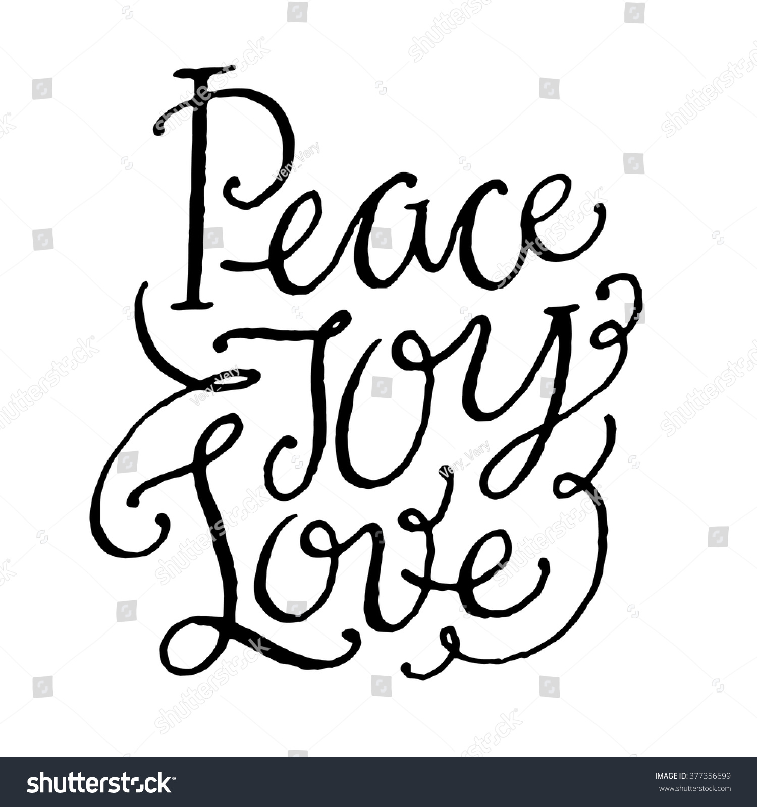 Quotes About Peace And Love Peace Joy Love Inspirational Motivational Quotes Hand Stock Vector