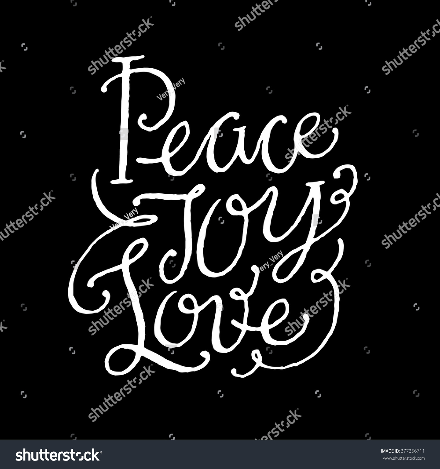 Love And Peace Quotes Peace Joy Love Inspirational Motivational Quotes Hand Stock Vector