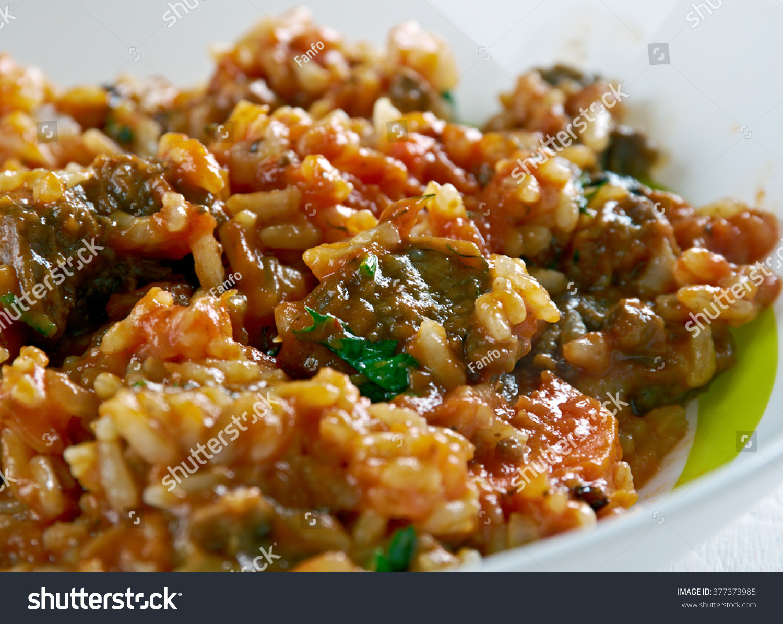 Skoudehkaris - Rice Recipe From Djibouti.African Cuisine Stock Photo ...