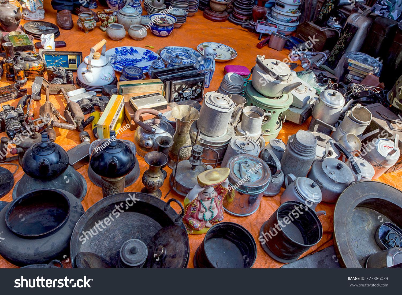 Chợ Viềng: Namdinh Vietnam Febryary 14 2016 The Stock Photo 377386039