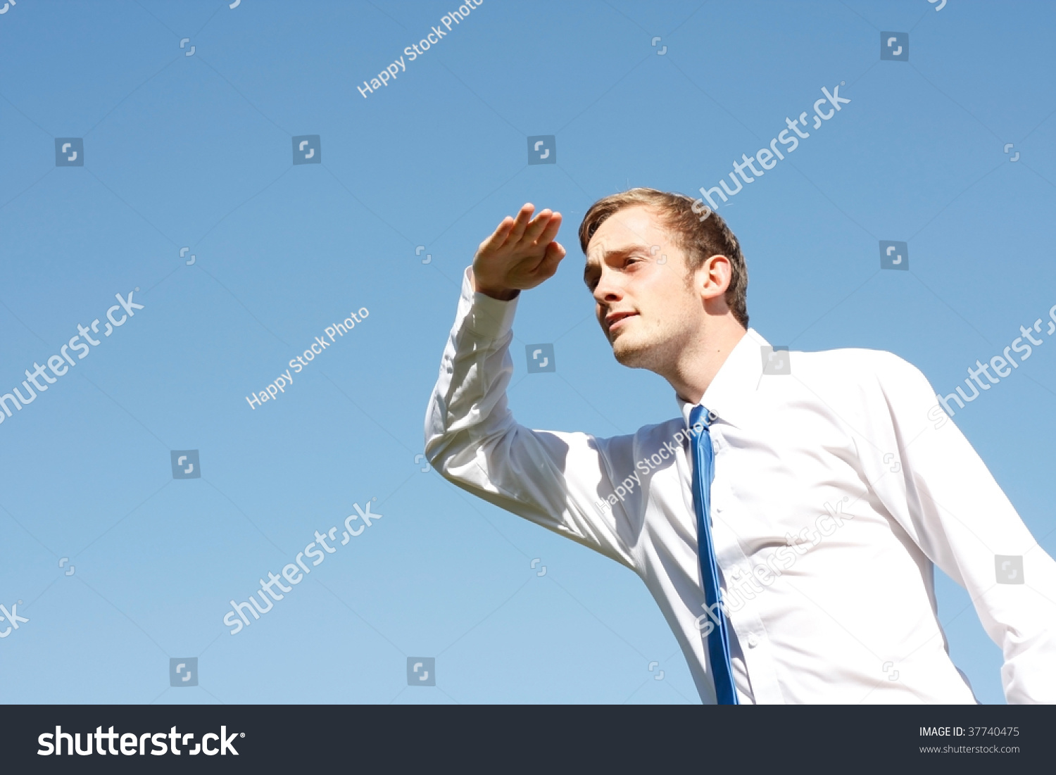 A Man Searching For Something Stock Photo 37740475