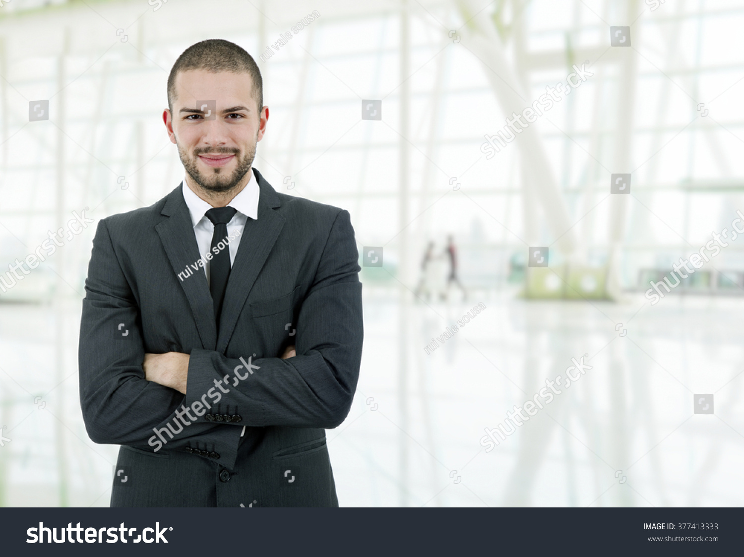 Young business man portrait office stock photo 377413333 shutterstock - Office portrait photography ...