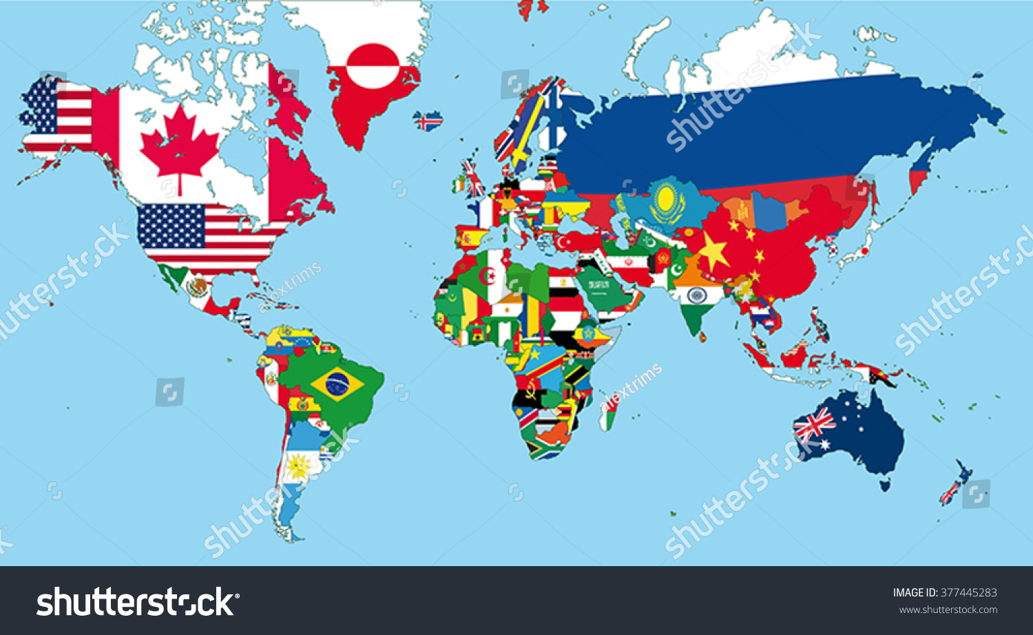 World map all states their flags vectores en stock 377445283 the world map with all states and their flags gumiabroncs Choice Image