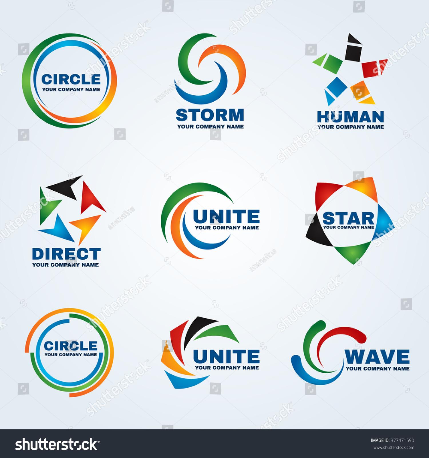Vector graphic design business logo - Circle Logo Vector Art Design For Business