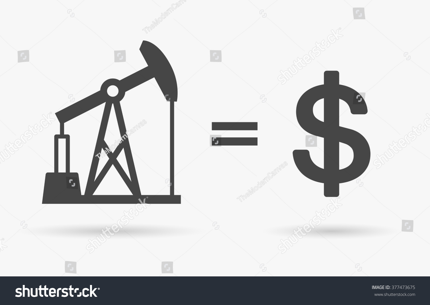 Crude Oil Sign Equals Dollar Currency Stock Vector Royalty Free