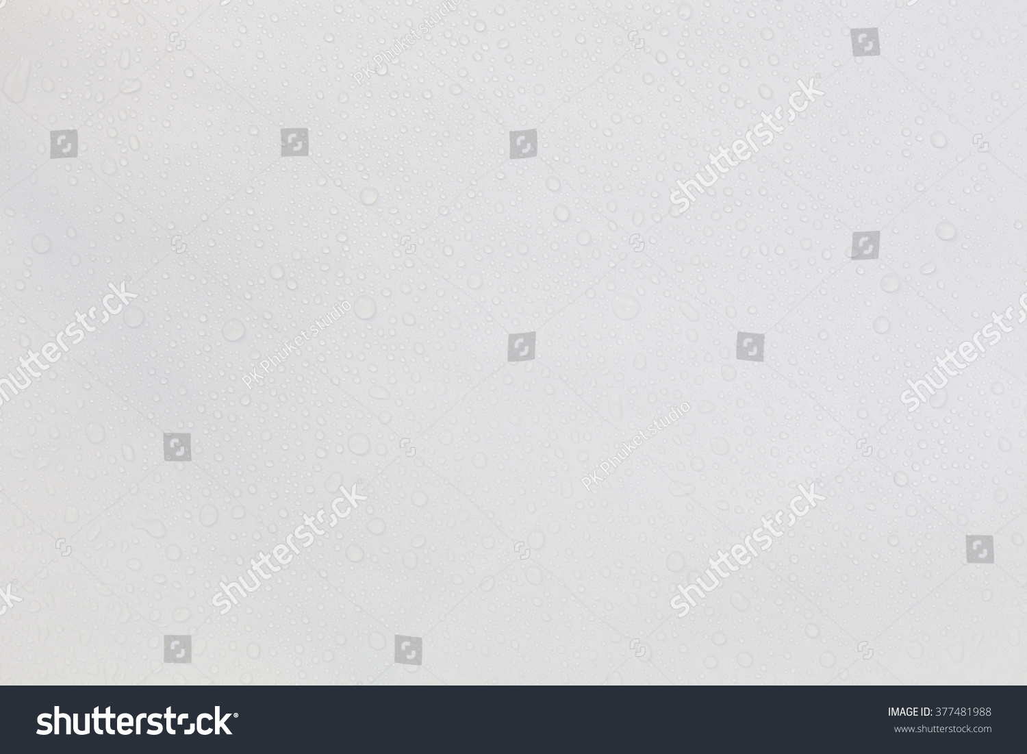 Water Drops On White Background Stock Photo 377481988 ...