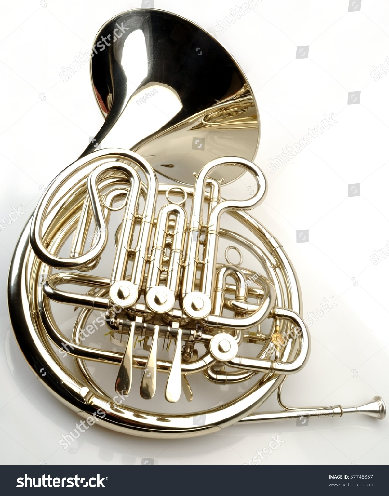 French Horn On White Background Stock Photo 37748887 ...