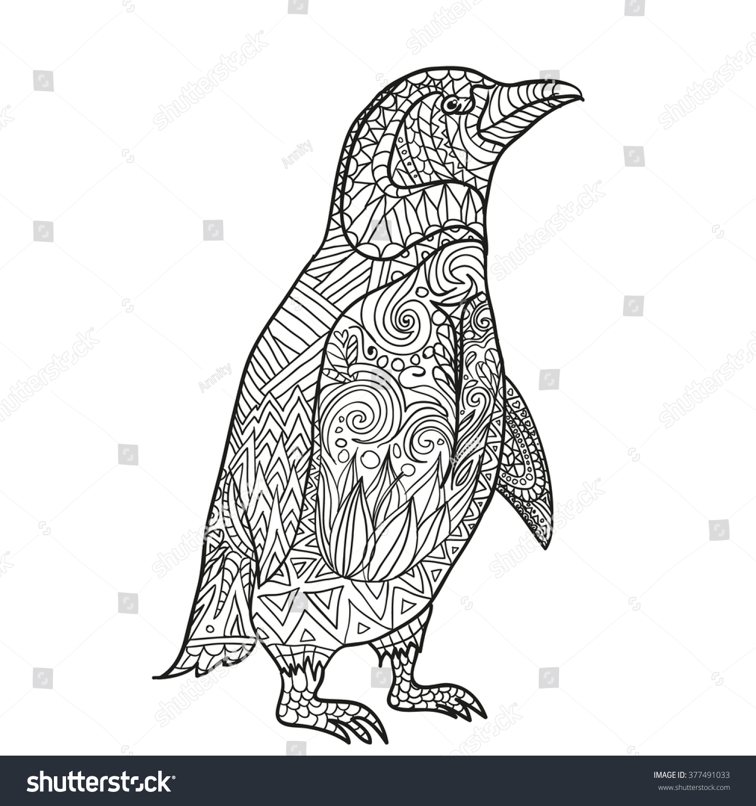 Pin pinguine mandala on pinterest for Penguin adult coloring pages