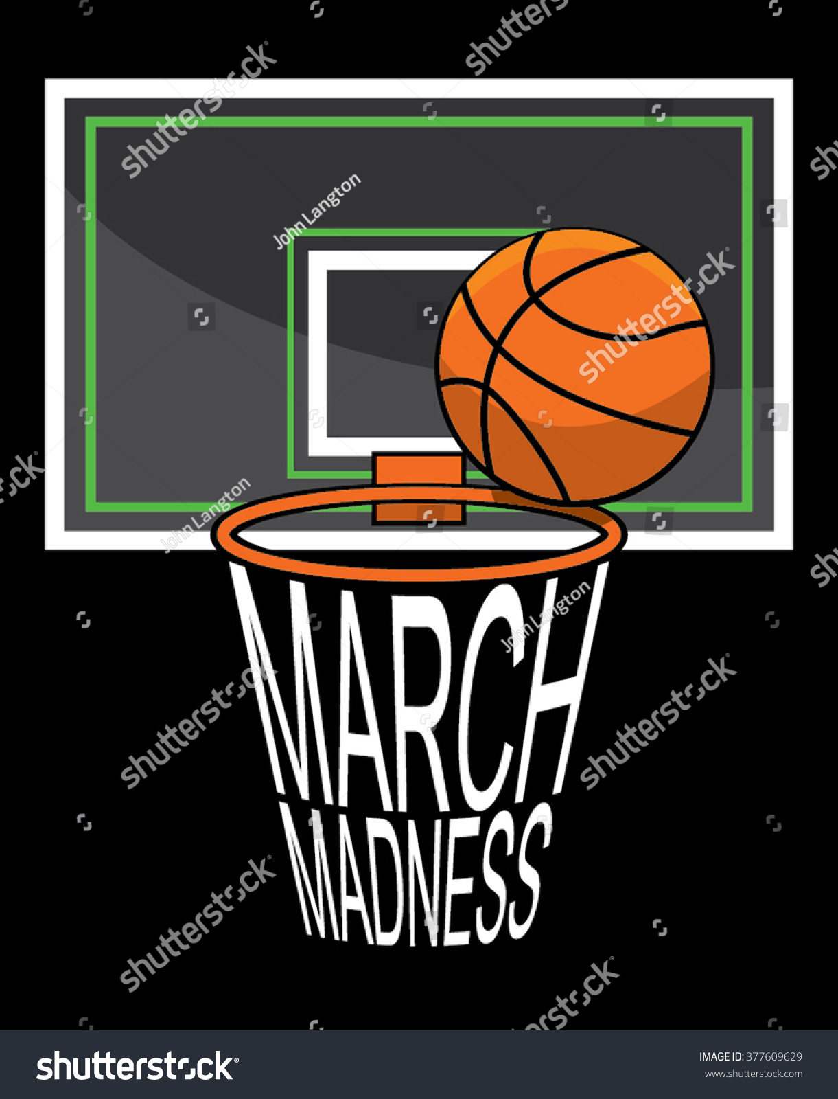 March Madness Stock Vector 377609629 - Shutterstock